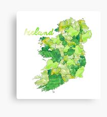 Watercolor Countries - Ireland Canvas Print