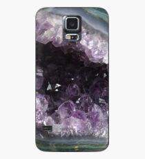 Amethyst Geode Hülle & Klebefolie für Samsung Galaxy