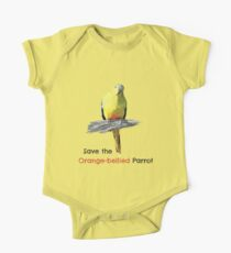 Orange-bellied Parrot products (light background colours) One Piece - Short Sleeve