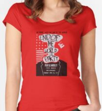 Mr. Robot End of the World Party Tee Women's Fitted Scoop T-Shirt