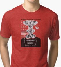 Mr. Robot End of the World Party Tee Tri-blend T-Shirt