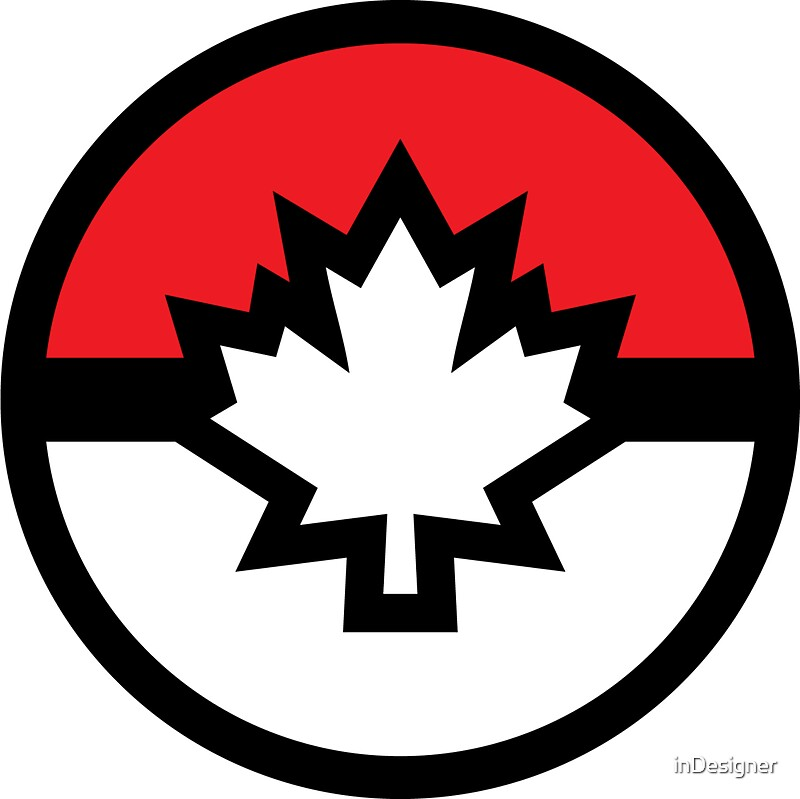 Quot Canada Pokemon Logo Pokeball Quot Stickers By Indesigner