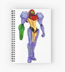 Samus Gravity Suit Spiral Notebook