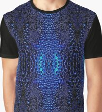 Abstract Raindrops Pattern Graphic T-Shirt
