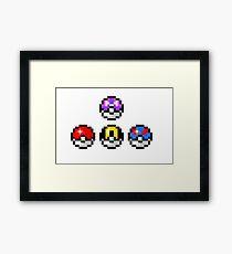 Pokemon Poke Balls Framed Print