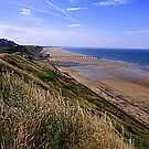 Saltburn on Sea, from the Cleveland Way Trail, North North Yorkshire, England/ by Ian Alex Blease