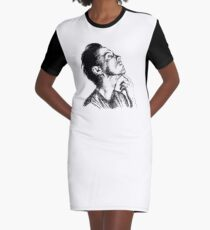 Andrew Scott scribble Graphic T-Shirt Dress