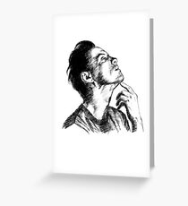 Andrew Scott scribble Greeting Card