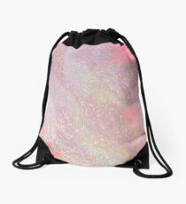 Heavenly Pink by Sherriofpalmsprings Drawstring Bag
