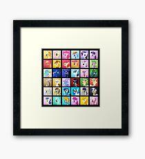 Pony Blocks Framed Print