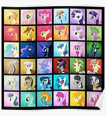 Pony Blocks Poster