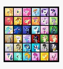 Pony Blocks Photographic Print