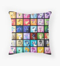Pony Blocks Throw Pillow