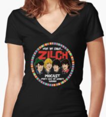 Zilch Podcast! Women's Fitted V-Neck T-Shirt
