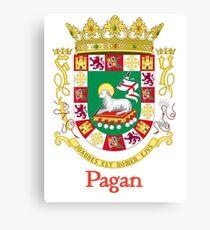 Pagan Shield of Puerto Rico Canvas Print