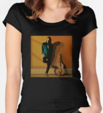 Chris Whitley painting Women's Fitted Scoop T-Shirt