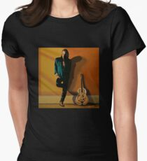 Chris Whitley painting Womens Fitted T-Shirt