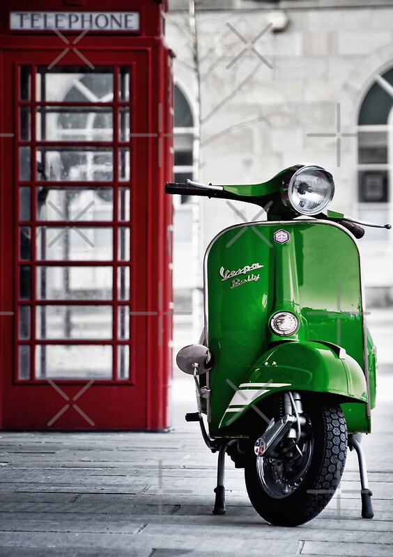 Quot Italian Green Vespa Rally 200 Scooter Quot Posters By Aj
