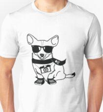 Hipster Corgi - Cute Dog Cartoon Character - Corgis Rule Unisex T-Shirt