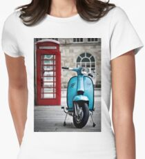Italian Light Blue Lambretta GP Scooter Women's Fitted T-Shirt