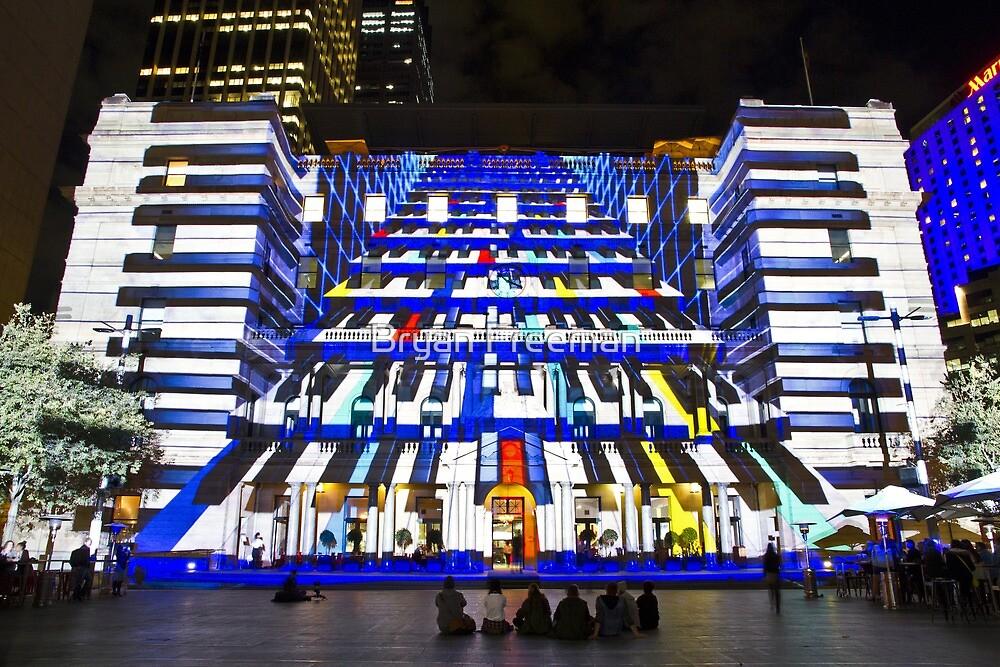 Piano Man - Customs House - Sydney Vivid Festival - Australia by Bryan Freeman