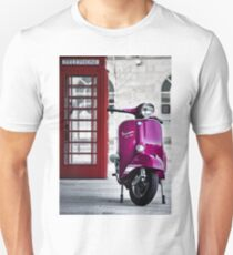 Italian Pink Vespa Rally 200 Scooter Unisex T-Shirt