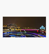 Circular Quay - Sydney Harbour - Vivid Festival - Australia Photographic Print
