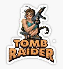Comic Book Lara Croft Sticker