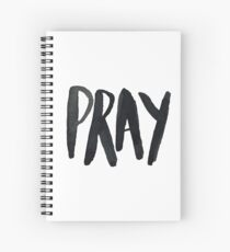 Pray Typography Spiral Notebook