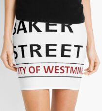Baker Street Sign Mini Skirt