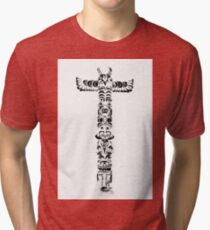Tribal graffiti cross Tri-blend T-Shirt