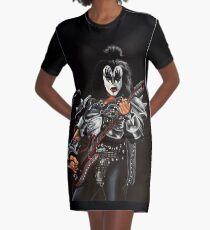 Gene Simmons of Kiss Painting Graphic T-Shirt Dress