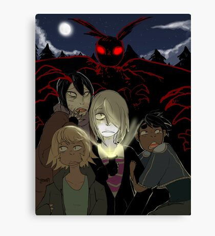 Attack of the Mothman Canvas Print