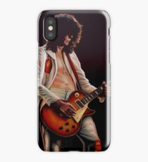 Jimmy Page In Led Zeppelin Painting iPhone Case/Skin