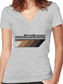 Land Cruiser FJ body graphics series, brown arrows, t shirt  Women's Fitted V-Neck T-Shirt