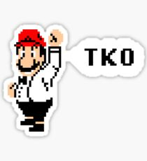 Punch-Out TKO Sticker