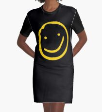 Smile if You're Bored Graphic T-Shirt Dress