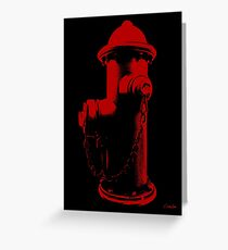 Fire Red Greeting Card