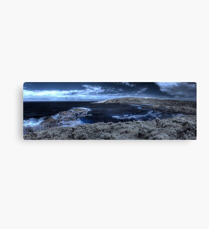 Lowlands beach on a quiet day, IR Pan Canvas Print