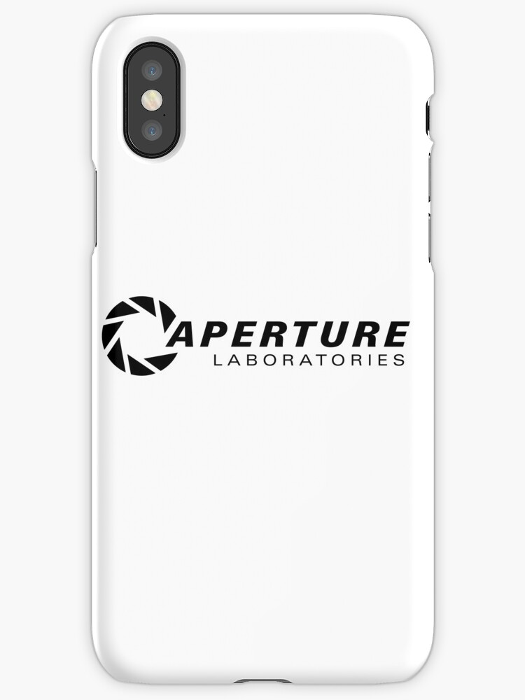 u0026quot portal aperture science logo u0026quot  iphone cases  u0026 covers by zaber