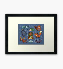 Woodland animals Framed Print