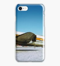 Wien Alaska Airlines Curtiss-Wright CW-20 on the snowN1548V iPhone Case/Skin