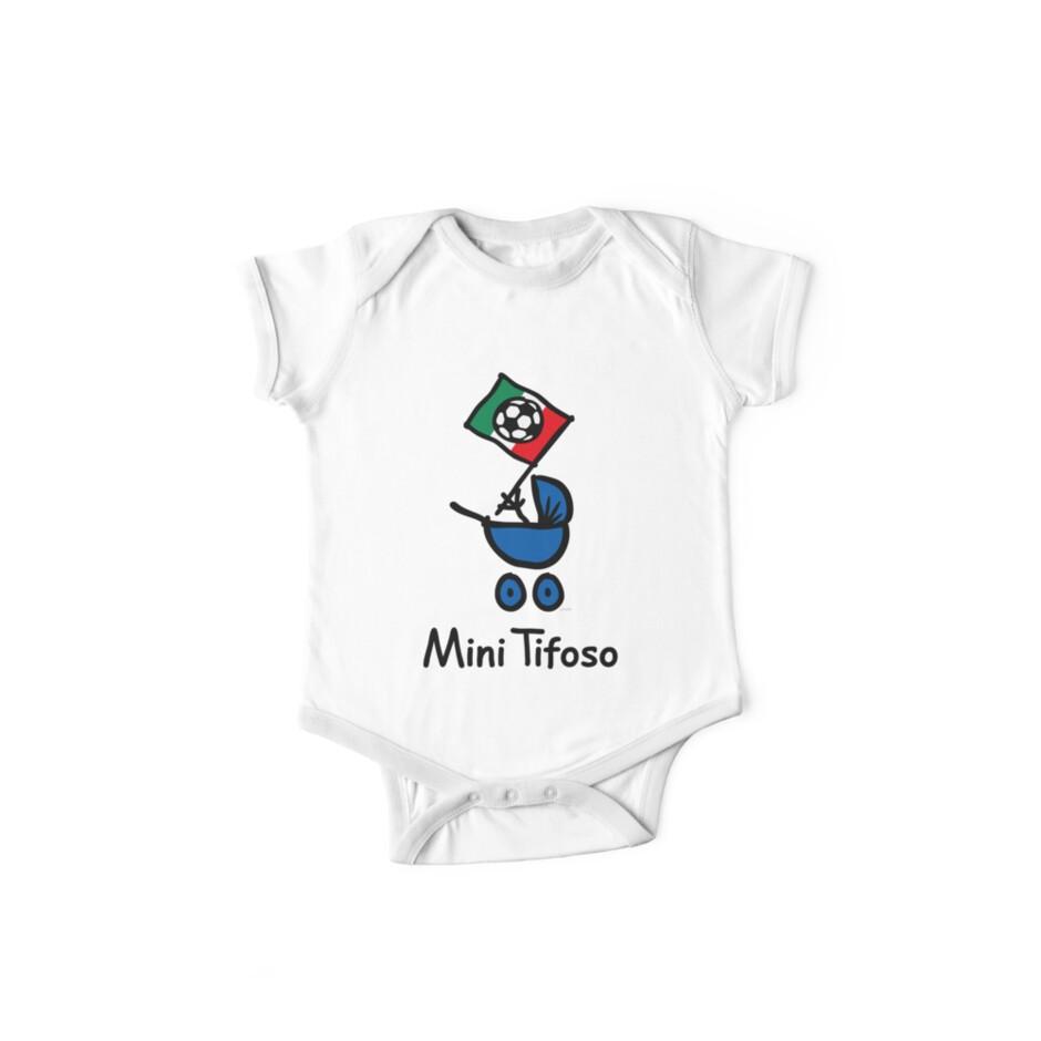 Mini Tifoso Italia Baby Football Fan Italy Black One Piece