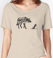 Man is a wolf to man Women's Relaxed Fit T-Shirt