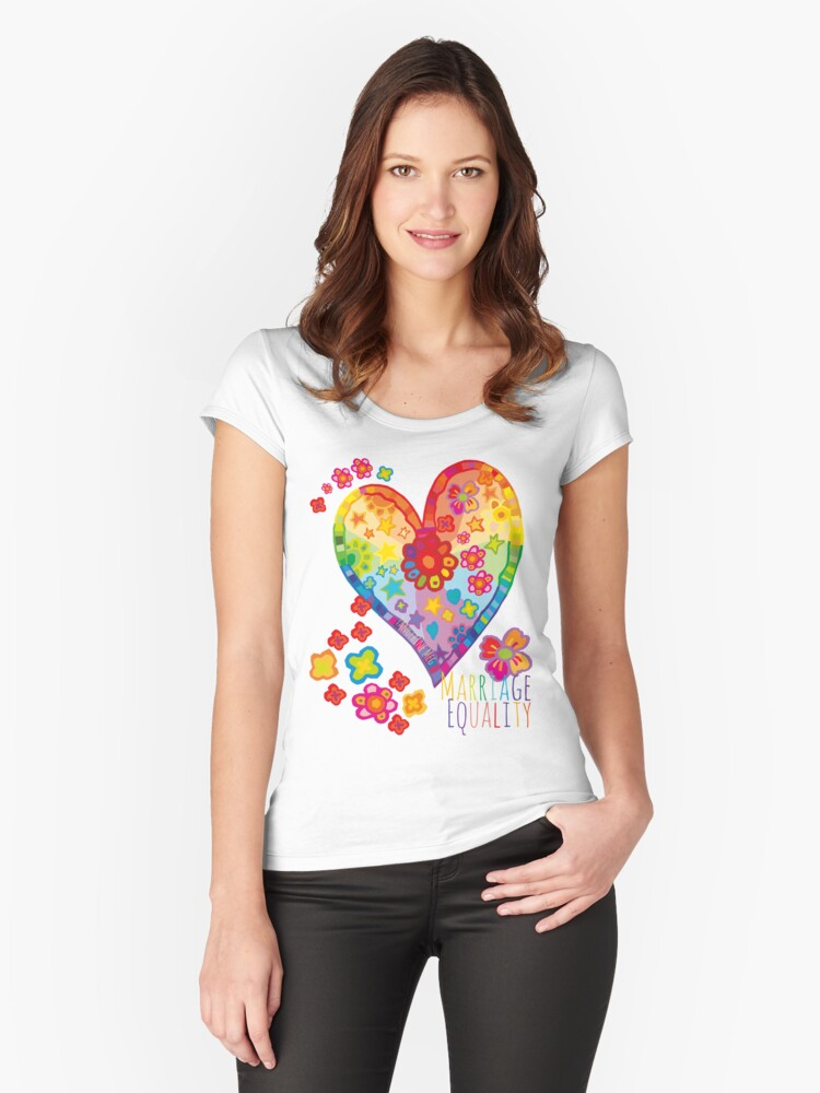 Marriage Equality - All You Need is Love Women's Fitted Scoop T-Shirt Front