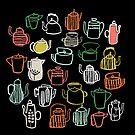 Kitchen Teapots by Andrea Lauren von Andrea Lauren