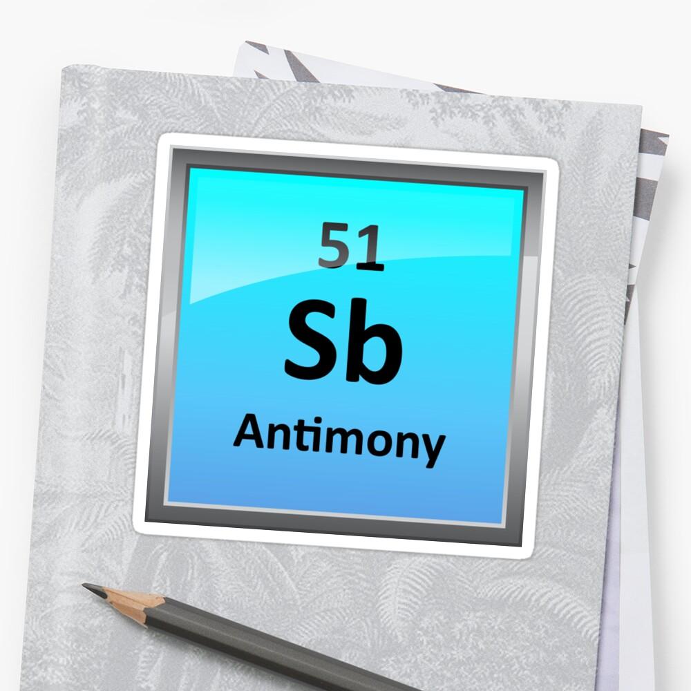 Antimony periodic table element symbol stickers by sciencenotes antimony periodic table element symbol by sciencenotes urtaz Choice Image