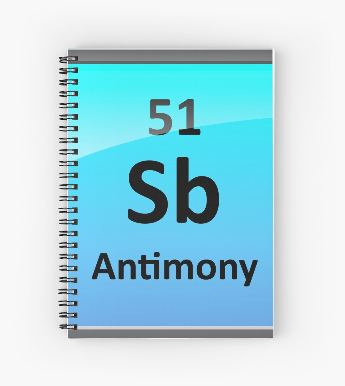 Antimony periodic table element symbol spiral notebooks by antimony periodic table element symbol by sciencenotes urtaz Images