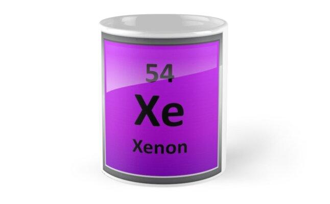 Tazas smbolo de elemento de tabla peridica de xenn de smbolo de elemento de tabla peridica de xenn urtaz Choice Image