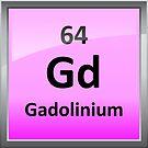 Gadolinium Periodic Table Element Symbol by sciencenotes